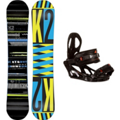 K2 Playback Snowboard and Binding Package 2013, 158cm, medium
