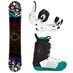 SLQ Twin Rocker Complete Snowboard Package