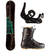 Airwalk Airwalk Logo Black Complete Snowboard Package, , medium