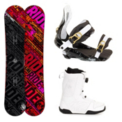 Ride Kink Complete Snowboard Package, 147cm, medium