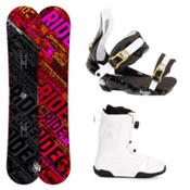 Ride Kink Complete Snowboard Package, 152cm, medium