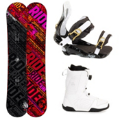 Ride Kink Complete Snowboard Package, 155cm, medium
