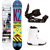 K2 Raygun Complete Snowboard Package, 156cm, medium