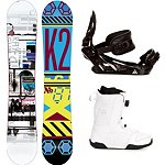 K2 Raygun Complete Snowboard Package