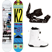 K2 Raygun Complete Snowboard Package, 159cm, medium