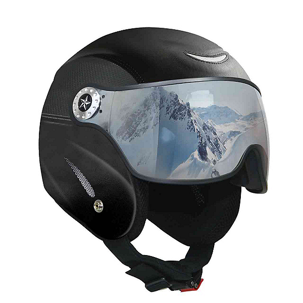 OSBE Proton Leather Helmet, Black Carbon, 600