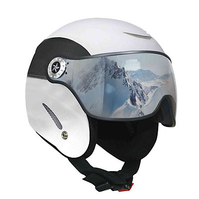OSBE Proton Leather Helmet, Black Carbon, viewer