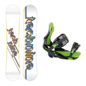 Tech Nine T9 White Womens Snowboard and Binding Package, , medium
