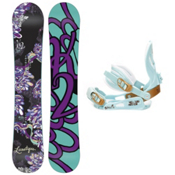 K2 Lunatique Womens Snowboard and Binding Package, 149cm, medium