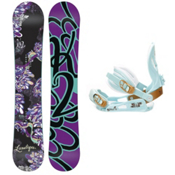 K2 Lunatique Womens Snowboard and Binding Package, 151cm, medium
