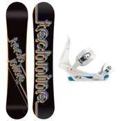 Tech Nine T9 Black Womens Snowboard and Binding Package, , medium