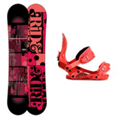 Ride Compact Womens Snowboard and Binding Package 2013, 143cm, medium