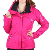 Salomon Express Womens Insulated Ski Jacket, Fancy Pink-White, medium