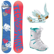 Tech Nine Diamond Blue Womens Complete Snowboard Package, , medium