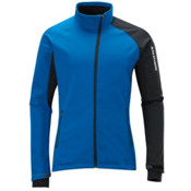 Salomon Active Soft Shell Ski Jacket, Vibrant Blue-Black, medium