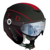 OSBE United Helmet 2014, Black-Red, medium