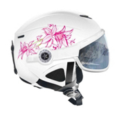 OSBE United Snow Helmet, Flower White-Pink, medium