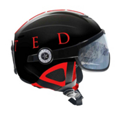 OSBE United Snow Helmet, Black-Red, medium