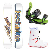 Tech Nine T9 White Womens Complete Snowboard Package, , medium