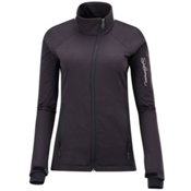 Salomon Active IV Womens Soft Shell Ski Jacket, Black-Black, medium