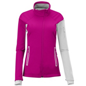 Salomon Active IV Womens Soft Shell Ski Jacket, Fancy Pink-White-White, medium