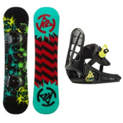 K2 Mini Twilight Kids Snowboard and Binding Package 2013, 130cm, medium