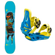 Forum Mini Youngblood Kids Snowboard and Binding Package 2013, 140cm, medium