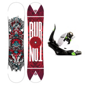 Burton TWC Smalls Kids Snowboard and Binding Package 2013, 120cm, medium