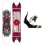 Burton TWC Smalls Kids Snowboard and Binding Package 2013, 128cm, medium