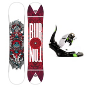 Burton TWC Smalls Kids Snowboard and Binding Package 2013, 136cm, medium