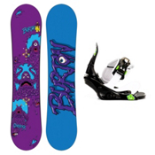 Burton Chopper Kids Snowboard and Binding Package 2013, 115cm, medium