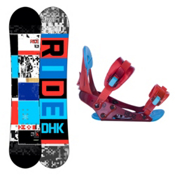 Ride DHK Kids Snowboard and Binding Package 2013, 138cm, medium