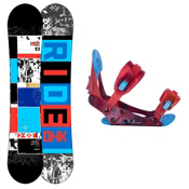 Ride DHK Kids Snowboard and Binding Package 2013, 146cm, medium