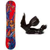 Black Fire Techno Kids Snowboard and Binding Package 2013, , medium