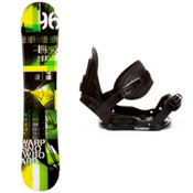 WDRP Warp Green Kids Snowboard and Binding Package, , medium