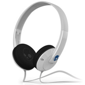 Skullcandy Uprock MICD Headphones, White-Blue, medium