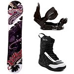 360 Inc. Tattoo Kids Complete Snowboard Package