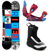 Ride DHK Kids Complete Snowboard Package 2013, 146cm, medium