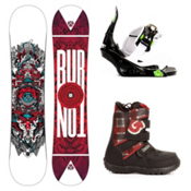 Burton TWC Smalls Kids Complete Snowboard Package 2013, 128cm, medium