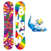 Burton Chicklet Girls Snowboard and Binding Package 2013, 120cm, medium