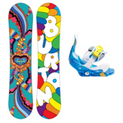 Burton Chicklet Girls Snowboard and Binding Package 2013, 125cm, medium