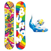 Burton Chicklet Girls Snowboard and Binding Package 2013, 130cm, medium