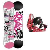Ride Blush Girls Snowboard and Binding Package 2013, 110cm, medium