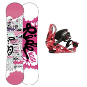 Ride Blush Girls Snowboard and Binding Package 2013, 120cm, medium