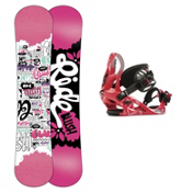 Ride Blush Girls Snowboard and Binding Package 2013, 130cm, medium
