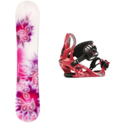 Joyride Drops Pink Girls Snowboard and Binding Package 2013, , medium