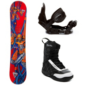 Black Fire Techno Kids Complete Snowboard Package, , medium