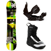 WDRP Warp Green Kids Complete Snowboard Package, , medium