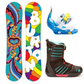 Burton Chicklet Girls Complete Snowboard Package 2013, 125cm, medium