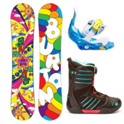 Burton Chicklet Girls Complete Snowboard Package 2013, 130cm, medium